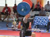 Weightlifter Aydan McMahon lifting at the 2014 Youth Olympic Games qualification event in New Caledonia to seal his spot at the YOG in Nanjing, China.