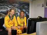 Aussie 4x100m freestyle relay gold medallists Mel Schlanger and Libby Trickett chat to students back in Australia from the London 2012 Games as a part of the AOC's Chat to a Champ program.