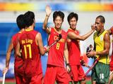 The team of China celebrates after the Men's Classification 11-12 match between China and South Africa.
