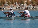 2008 Beijing Olympic champions David Crawshay (VIC) and Scott Brennan (TAS) have retained their national championship in the men's double scull on day 5 of the 2012 Australian Rowing Championships held at the Champions Lake Regatta Centre in Perth, Western Australia.