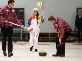 The Sochi 2014 Olympic Torch visited the regions of Krasnogorsk and Dmitrov on Day 4 of the Sochi 2014 Olympic Torch Relay to take part in the Olympic event of Curling