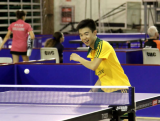 Youth Olympic athlete Dominic Huang in action.