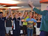 Laurie Lawrence has the room of Rio hopefuls and Olympic legends on their feet at the Brisbane IGNITE session.