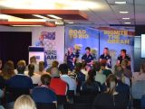 Susie O'Neill speaks as part of the panel of stars at the IGNITE session in Brisbane. Matthew Wells, Julie McDonald and Duncan Free were also on the panel, with Natalie Cook as MC.
