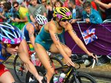 Erin Densham of Australia competes in the Women's Triathlon on Day 8.