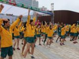 #GoAUS Flashmob in the Youth Olympic Village