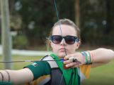 Youth Olympic Archer Jessica Sutton at the YOG qualifier in Auckland, New Zealand.