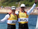 Gold for Australia in the 470 men's sailing