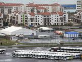Buses stand at the parking place at the Olympic Park in Adler outside Sochi on November 30, 2013.