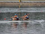 Youth Olympic rowing twins, Miller and Tyler Ferris row in the double sculls.