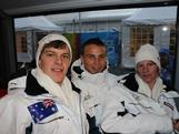 Jack Millar, Harry Laidlaw and Thomas Waddell before the Opening Ceremony of the Innsbruck 2012 Winter Youth Olympics.