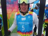 Australia freestyle skier Jack Millar after his qualification run in the men's ski cross at the Innsbruck 2012 Winter Youth Olympics.