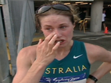 Saville disqualified with gold in her grasp