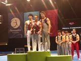 Josh Jefferis wins the 2012 Australian Championship all around event at the State Sports Centre at Sydney Olympic Park.