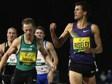 Jeffrey Riseley of the VIS wins the Mens 800 Metre final during the Australian Athletics Tour final held at the West Australian Athletics Centre in Perth, Australia.