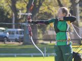 Youth Olympic archer Jessica Sutton in action.