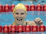 Leisel Jones is all smiles after winning silver in the 100m breastroke at the 2011 world championships in Shanghai.