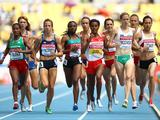 Kaila McKnight competes in the women's 1500 metres heats during day the 13th IAAF World Athletics Championships. Kaila qualified for the semi-final.