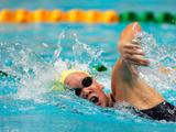 Kylie Palmer of Australia competes in the women's 800m freestyle final at Sydney Olympic Park Aquatic Centre January 23