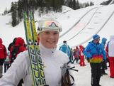 Lucy Glanville after she wrapped up her Winter Youth Olympic campaign at Seefeld Arena.