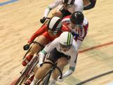 Anna Meares leads in the Women's Keirin during the 2012 UCI Track Cycling World Championships at Hisense Arena on April 7, 2012 in Melbourne, Australia.