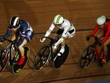 Anna Meares competes in the Women's Keirin Quarter Finals during the UCI Track Cycling World Cup - LOCOG Test Event for London 2012 at the Olympic Velodrome in London, England.