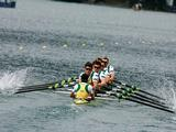 The Men's Eight in unison in their heat