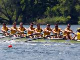 (L-R) Samuel Loch, Joshua Booth, Cameron Mckenzie-Mcharg, Bryn Coudraye, Thomas Swann, Nicholas Purnell, Matthew Ryan, Francis Hegerty and Tobias Lister row in the men's eight during Day 1 of the 2012 Samsung World Rowing Cup III on Lucerne Rotsee on May 25, 2012 in Lucerne, Switzerland.