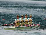 The Men's Quad scull roared into the semi-finals