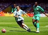 Lionel Messi of Argentina during the Men's Final between Nigeria and Argentina at the National Stadium on Day 15 of the Beijing 2008 Olympic Games on August 23, 2008 in Beijing, China.