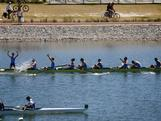 New South Wales has equaled its longest ever winning streak in the King's Cup with a one length victory at Champion Lakes Regatta Centre in Perth. Their fifth straight victory equaled the feat achieved by New South Wales between 1974 and 1978 and handed the sky blues their 33rd victory in the famous men's eight interstate race.