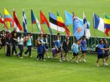 School children, Olympians and Paralympians recreate the Opening Ceremony during the Schools Celebration