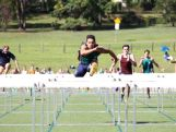 Nick Andrews show his power leaping over the hurdles. Skills he will be hoping to showcase at the YOG.
