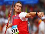 Andreas Thorkildsen of Norway competes in the Men's Javelin Qualifying Round held at the National Stadium during Day 13 of the Beijing 2008 Olympic Games on August 21, 2008 in Beijing, China.