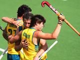 Edward Ockenden celebrates his goal against Pakistan at the 2011 Men's Champions Trophy in Auckland, New Zealand.