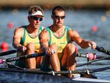 Reigning Olympic Doubles champions David Crawshay and Scott Brennan look to confirm their places on the team for London. Australian Rowing Olympic Trials, March 2012, Sydney International Rowing Centre