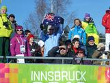 Aussie flags in the crowd at the Winter Youth Olympics to support
