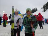 Lucy Glanville and her younger brother after her final race at the 2012 Winter Youth Olympic Games.