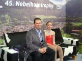 Brooklee and her coach Serhii after the Nebelhorn Trophy in Oberstdorf, Germany.