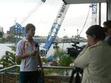 Long jumper Kurt Jenner will be aiming to fly further than 7.50 metres at the Singapore Youth Olympic Games. On Olympic Day (June 23) and at the FOXTEL Channel Launch for Singapore 2010 he spoke with local media. Photo credit: AOC