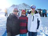 Thomas Waddell with his mum and brother before his ski halfpipe qualification at the Innsbruck 2012 Winter Youth Olympics.