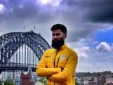 Ski Cross' Anton Grimus at the 100 days to Sochi celebration on Wednesday 30 October in Sydney.