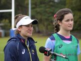 Brooke Anderson & Dominique du Toit spoke to the media after the Australian Youth Olympic rugby sevens squad trained in Sydney on July 26, 2014 ahead of the Youth Olympic Games (YOG) in Nanjing, China this August.