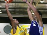 Patrick Mills of Australia in action during the mens basketball match between Australia and Oceania at Hills Sports Stadium on January 20