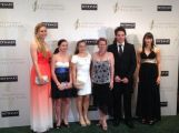 Deanna Lockett and her fellow award winners at the 2013 Sport Australia Hall of Fame Awards in Melbourne.