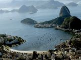 Aerial view of Flamengo Beach, the Sugar Loaf and Guanabara Bay with nearly one year to go to the Rio 2016 Olympic Games on July 21, 2015 in Rio de Janeiro, Brazil.