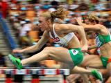Sally Pearson during the women's 100 metres hurdles heats during day seven of 13th IAAF World Athletics Championships at Daegu Stadium. Sally went on to take home gold in the event.