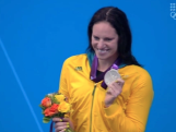 Emily Seebohm - 100m Backstroke Medal Ceremony - Day 3 London 2012