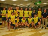 Aussie Sharks team photo during the first leg of the World League Prelims in Shanghai