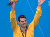 Christian Sprenger - 100m Breaststroke Medal Ceremony